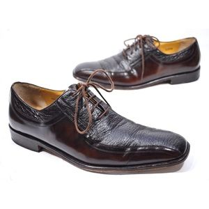 Mezlan Bogart Dark Brown Leather Oxford Shoes